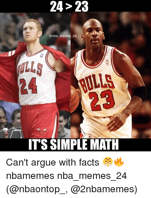 lls: 24> 23  @nba memes 24 2  24 LLS  23  ITS SIMPLE MATH Can't argue with facts 😤🔥 nbamemes nba_memes_24 (@nbaontop_, @2nbamemes)