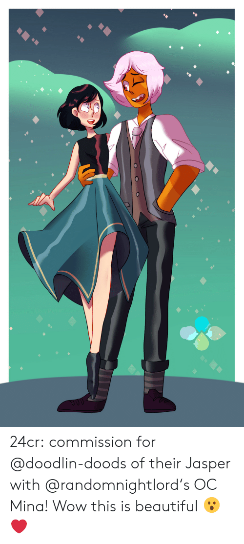 mina: 24cr:  commission for @doodlin-doods of their Jasper with @randomnightlord's OC Mina!  Wow this is beautiful 😮❤️