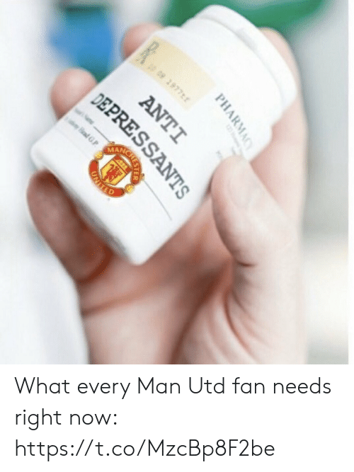 Every Man:  #  2977  09  ANC  adG  afGP  PHARMACY  ANTI  DEPRESSANTS  CRESTER  UNIIED What every Man Utd fan needs right now: https://t.co/MzcBp8F2be