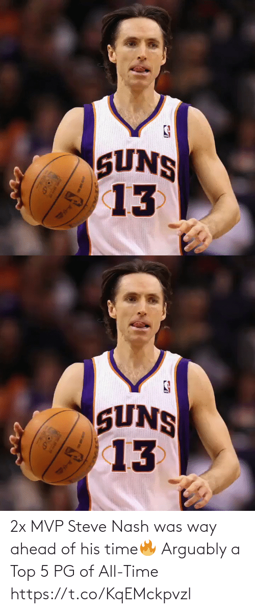 Ahead: 2x MVP Steve Nash was way ahead of his time🔥  Arguably a Top 5 PG of All-Time https://t.co/KqEMckpvzl