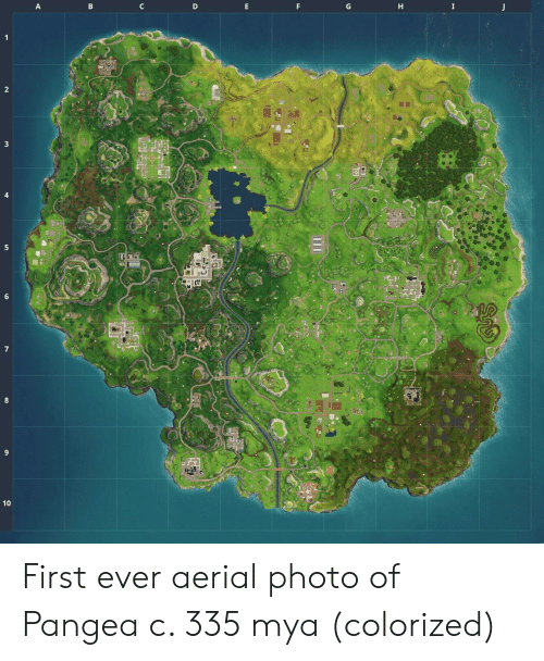 pangea: 3  8 First ever aerial photo of Pangea c. 335 mya (colorized)