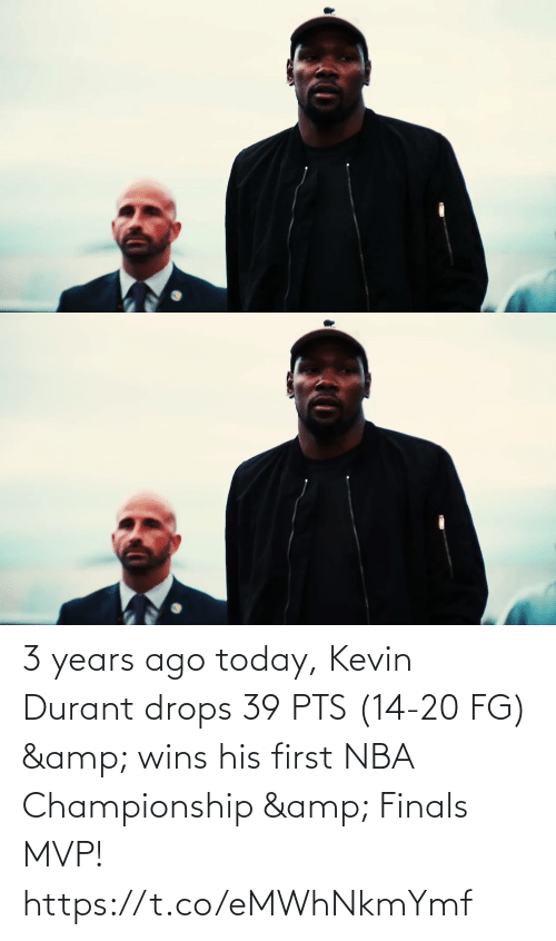 kevin: 3 years ago today, Kevin Durant drops 39 PTS (14-20 FG) & wins his first NBA Championship & Finals MVP!   https://t.co/eMWhNkmYmf