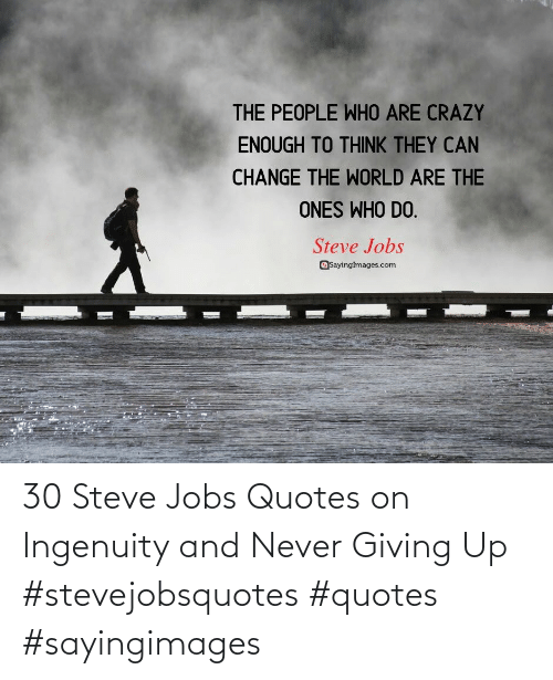 Steve Jobs: 30 Steve Jobs Quotes on Ingenuity and Never Giving Up #stevejobsquotes #quotes #sayingimages