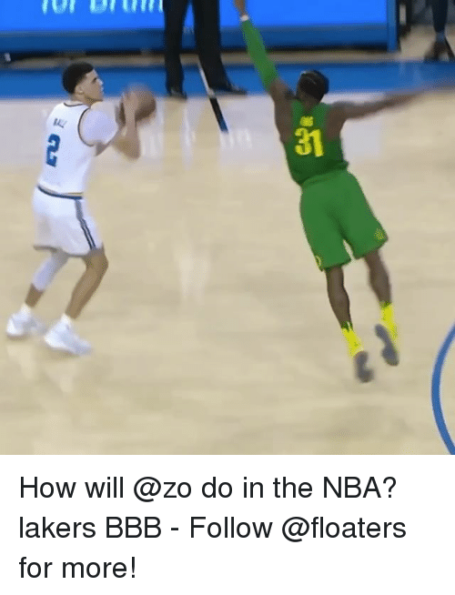 Bbb, Los Angeles Lakers, and Memes: 31 How will @zo do in the NBA? lakers BBB - Follow @floaters for more!