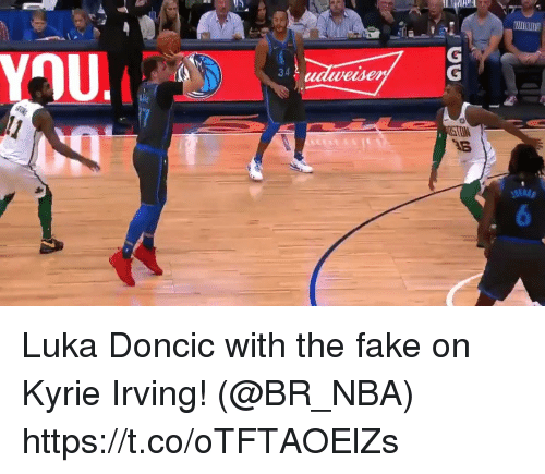 Irving: 34  wesen Luka Doncic with the fake on Kyrie Irving!   (@BR_NBA)  https://t.co/oTFTAOElZs