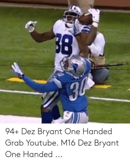 38 30 94 Dez Bryant One Handed Grab Youtube M16 Dez Bryant