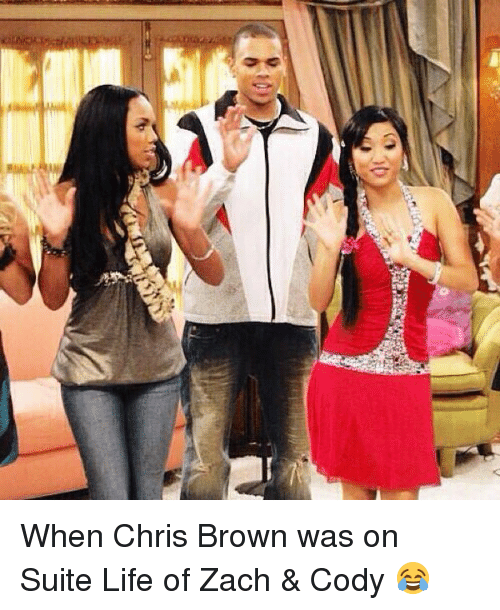 Suite Life Of Zach: 3D When Chris Brown was on Suite Life of Zach & Cody 😂
