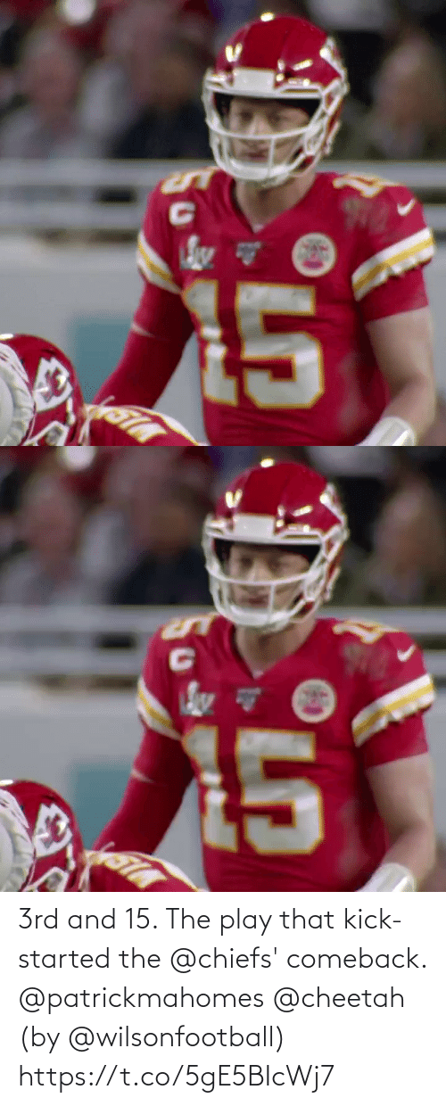 kick: 3rd and 15. The play that kick-started the @chiefs' comeback. @patrickmahomes @cheetah (by @wilsonfootball) https://t.co/5gE5BIcWj7