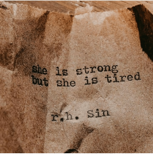 Strong, She, and Eis: 4  eis strong  she is tired