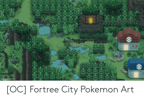 Pokemon, Art, and City: 4  HRARIEH [OC] Fortree City Pokemon Art