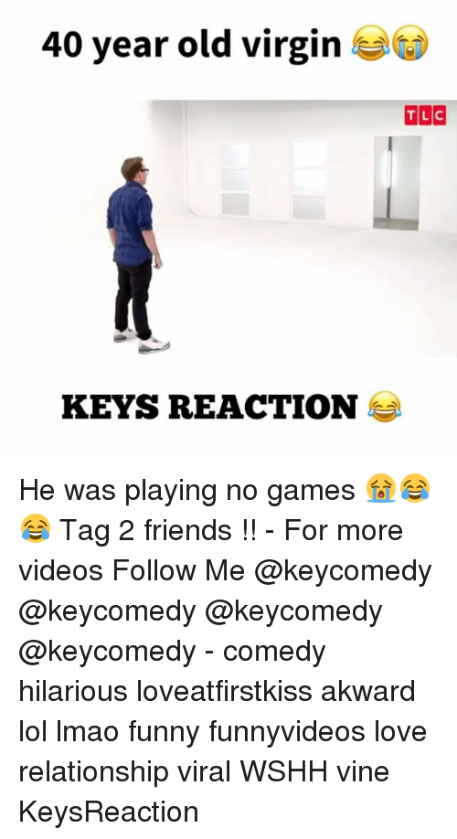 Lmao Funny: 40 year old virgin  KEYS REACTION He was playing no games 😭😂😂 Tag 2 friends !! - For more videos Follow Me @keycomedy @keycomedy @keycomedy @keycomedy - comedy hilarious loveatfirstkiss akward lol lmao funny funnyvideos love relationship viral WSHH vine KeysReaction