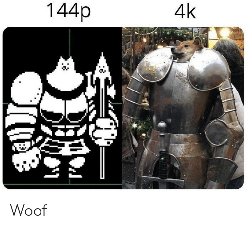 Woof and 144p: 4k  144p Woof