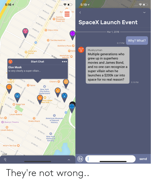 5161 519 Carmint Broadway Feast Inc Spacex Launch Event Mar