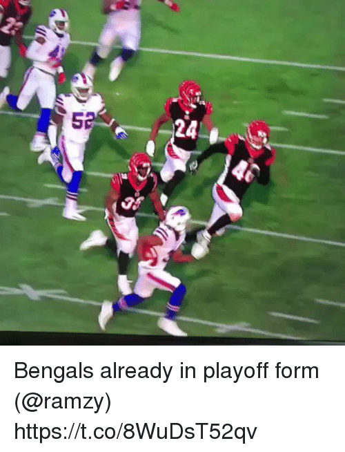 Football, Nfl, and Sports: 5  24 . Bengals already in playoff form (@ramzy) https://t.co/8WuDsT52qv