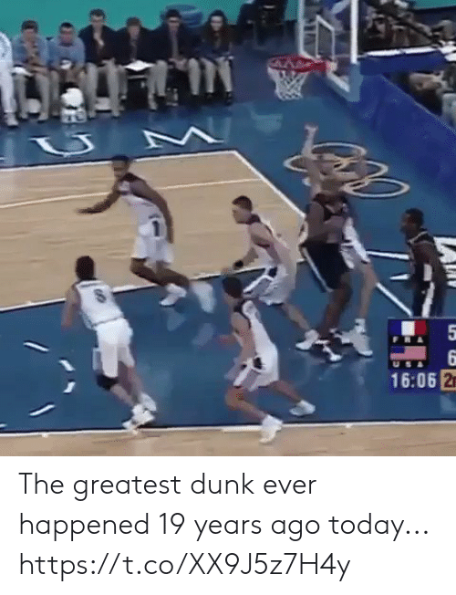 19 Years: 5  9  16:06 2 The greatest dunk ever happened 19 years ago today... https://t.co/XX9J5z7H4y