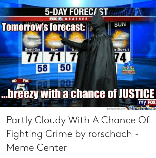 5-Day FORECA ST FOX 151 WEATHER Tomorrow's Forecast SUN Showers7