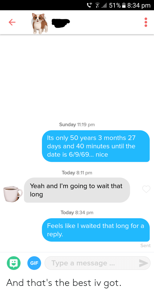 How long to wait before replying online dating