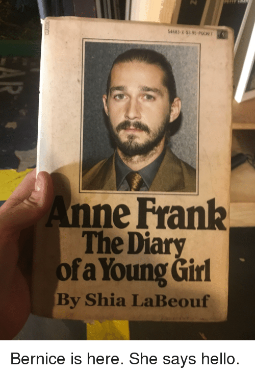 bernice: 54683-X-83 95-POCKET  eFrank  The Diary  fa Young Girl  By Shia LaBeouf