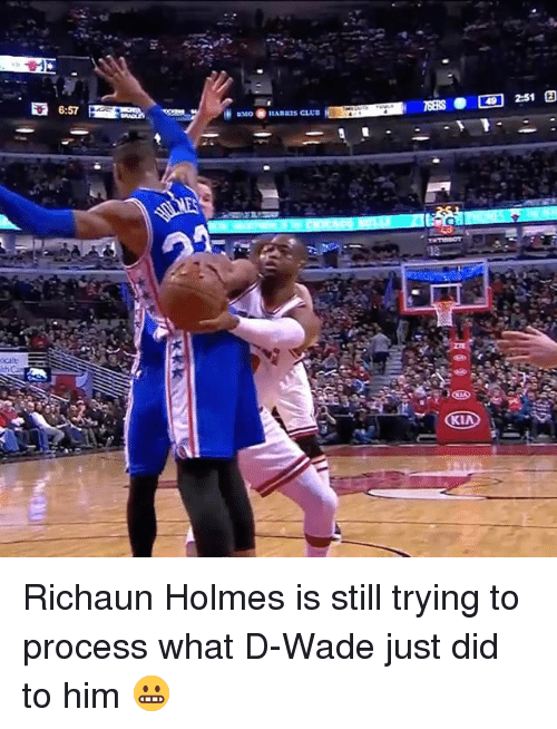 holms: 6:57 Richaun Holmes is still trying to process what D-Wade just did to him 😬