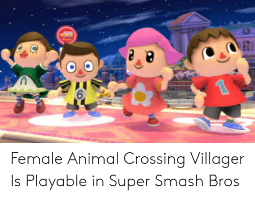 6 Female Animal Crossing Villager Is Playable In Super Smash Bros