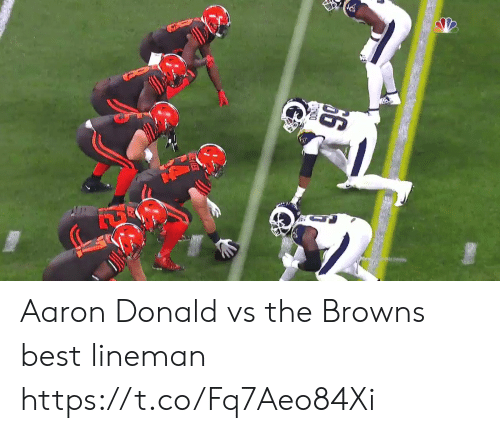 Nfl, Best, and Browns: 66 Aaron Donald vs the Browns best lineman  https://t.co/Fq7Aeo84Xi
