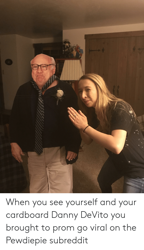 Danny Devito, Cardboard, and You: 693 When you see yourself and your cardboard Danny DeVito you brought to prom go viral on the Pewdiepie subreddit