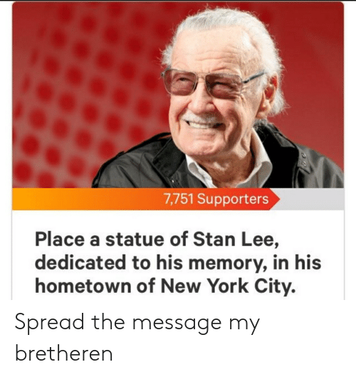 7751 Supporters Place a Statue of Stan Lee Dedicated to His Memory