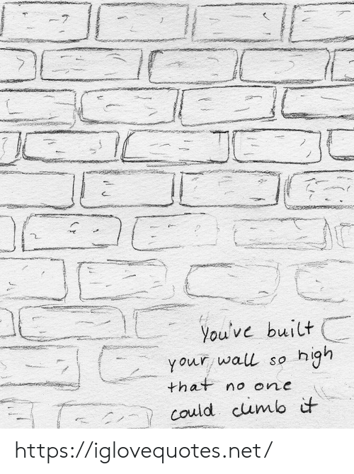 Net, One, and Href: 7  You've built  your wall so high  that no one  could cumb it https://iglovequotes.net/