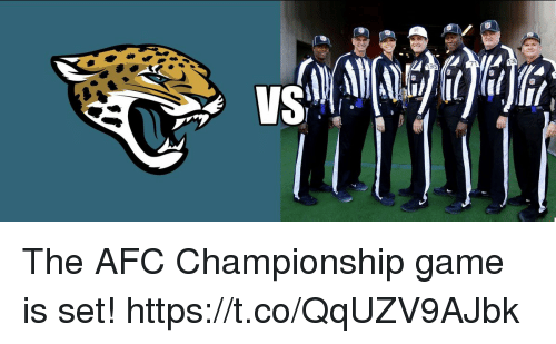 Afc Championship: 71 The AFC Championship game is set! https://t.co/QqUZV9AJbk