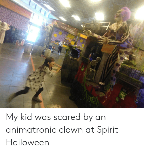 Halloween, Spirit, and Clown: 74  SPIRITHALL OM  HUGZ!  349 My kid was scared by an animatronic clown at Spirit Halloween