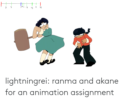 Animation: 79| 13  15 17  19 lightningrei:  ranma and akane for an animation assignment