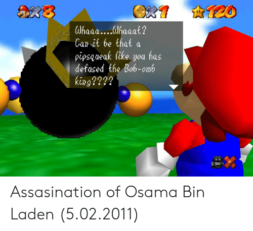 Osama Bin Laden, King, and Can: 8  Can it be that a  pipsqueak like you has  defused the Bob-omt  king???? Assasination of Osama Bin Laden (5.02.2011)