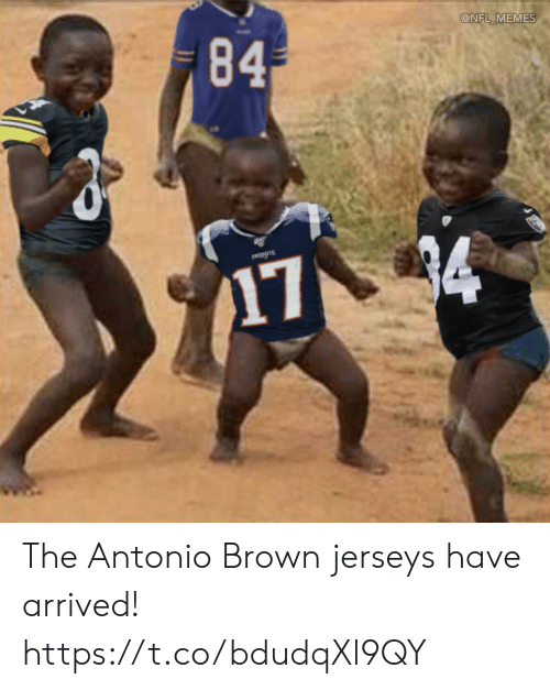 Football, Memes, and Nfl: 84  @NFL MEMES  PATIOTS  174 The Antonio Brown jerseys have arrived! https://t.co/bdudqXl9QY