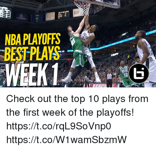 Memes, Nba, and Best: 97  NBA PLAYOFFS  BEST PLAYS Check out the top 10 plays from the first week of the playoffs! https://t.co/rqL9SoVnp0 https://t.co/W1wamSbzmW