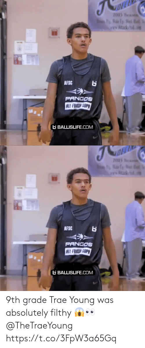 filthy: 9th grade Trae Young was absolutely filthy 😱👀 @TheTraeYoung https://t.co/3FpW3a65Gq