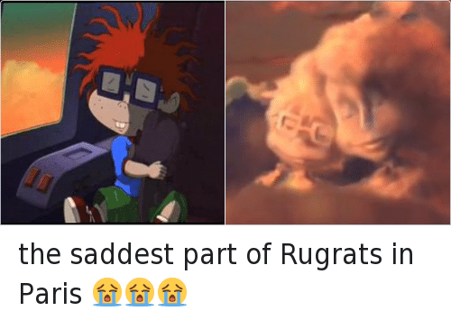Funny, Rugrats, and Paris: the saddest part of Rugrats in Paris 😭😭😭