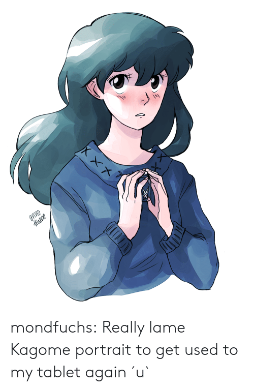 Tablet, Target, and Tumblr: aпne  dиme mondfuchs:  Really lame Kagome portrait to get used to my tablet again ´u`