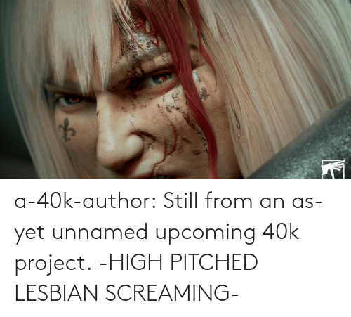 screaming: a-40k-author:  Still from an as-yet unnamed upcoming 40k project.   -HIGH PITCHED LESBIAN SCREAMING-