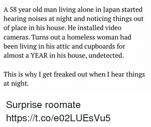 Being old and alone