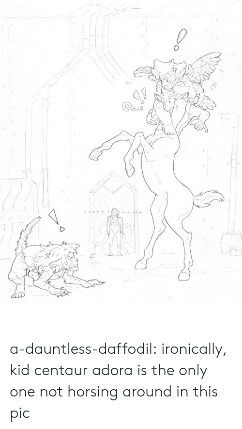 ironically: a-dauntless-daffodil:  ironically, kid centaur adora is the only one not horsing around in this pic