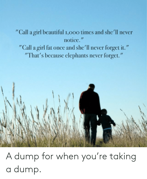 Taking: A dump for when you're taking a dump.