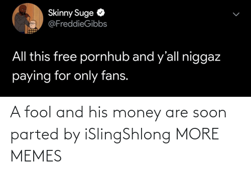 fool: A fool and his money are soon parted by iSlingShlong MORE MEMES