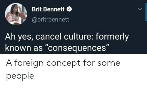 people: A foreign concept for some people