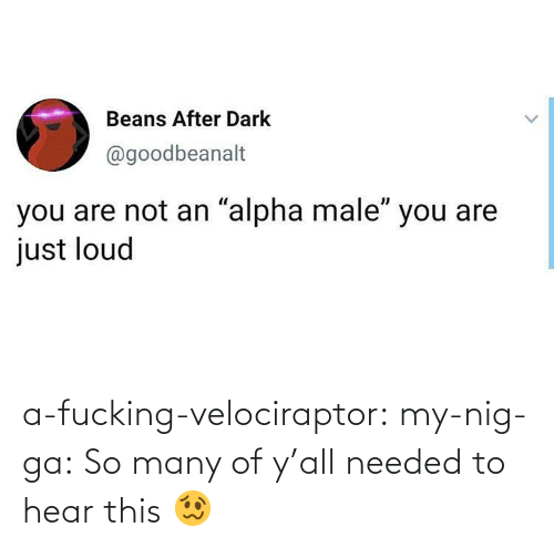 A Fucking: a-fucking-velociraptor: my-nig-ga: So many of y'all needed to hear this 🥴