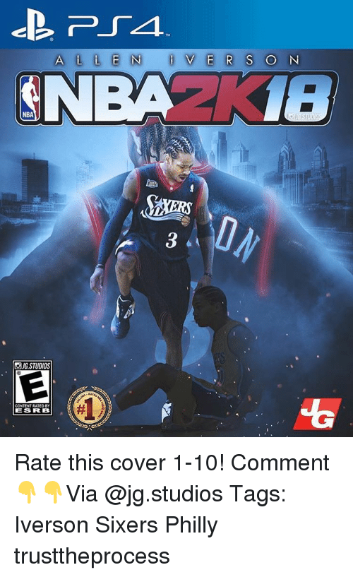 Phillied: A L L E N i V E R S  O N  NBA  OJGSTUDIOS  CONTENTRATEDBY  IES RRB Rate this cover 1-10! Comment 👇👇Via @jg.studios Tags: Iverson Sixers Philly trusttheprocess