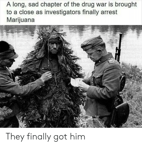 Marijuana: A long, sad chapter of the drug war is brought  to a close as investigators finally arrest  Marijuana They finally got him