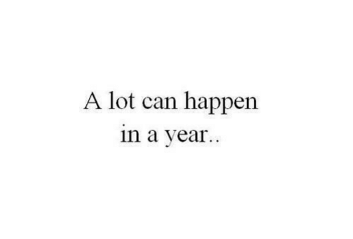 Can, Happen, and  Year: A lot can happen  in a year.