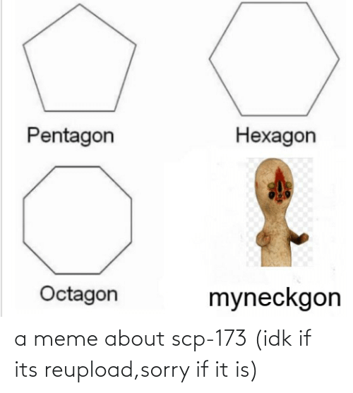 scp-173: a meme about scp-173 (idk if its reupload,sorry if it is)