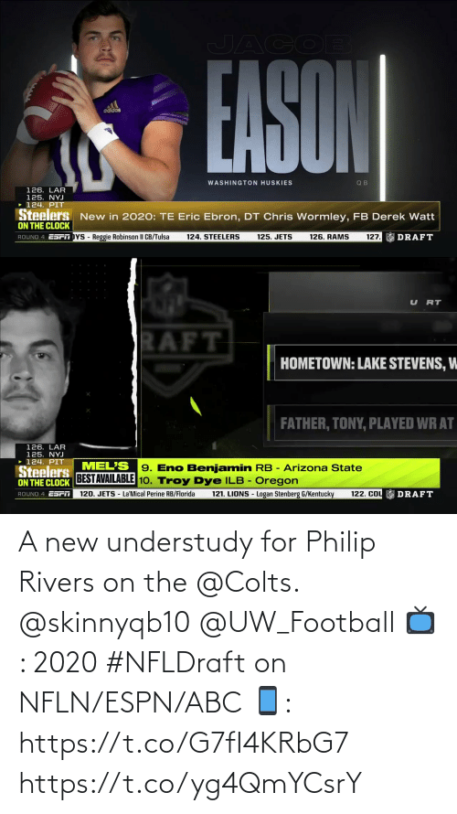 ABC: A new understudy for Philip Rivers on the @Colts. @skinnyqb10 @UW_Football  📺: 2020 #NFLDraft on NFLN/ESPN/ABC 📱: https://t.co/G7fI4KRbG7 https://t.co/yg4QmYCsrY