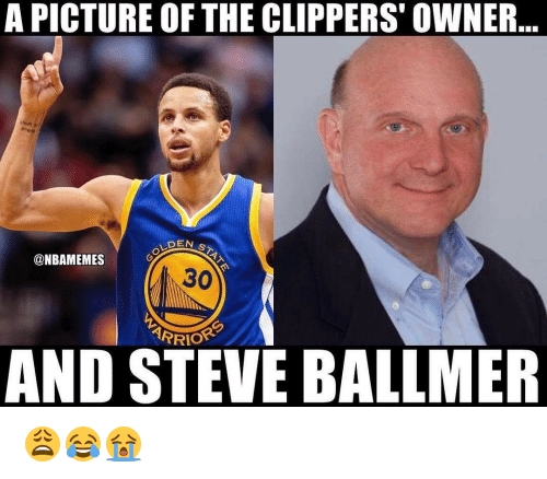 Steve Ballmer: A PICTURE OF THE CLIPPERS OWNER  DEAN s  @NBAMEMES  ARRIOR  AND STEVE BALLMER 😩😂😭